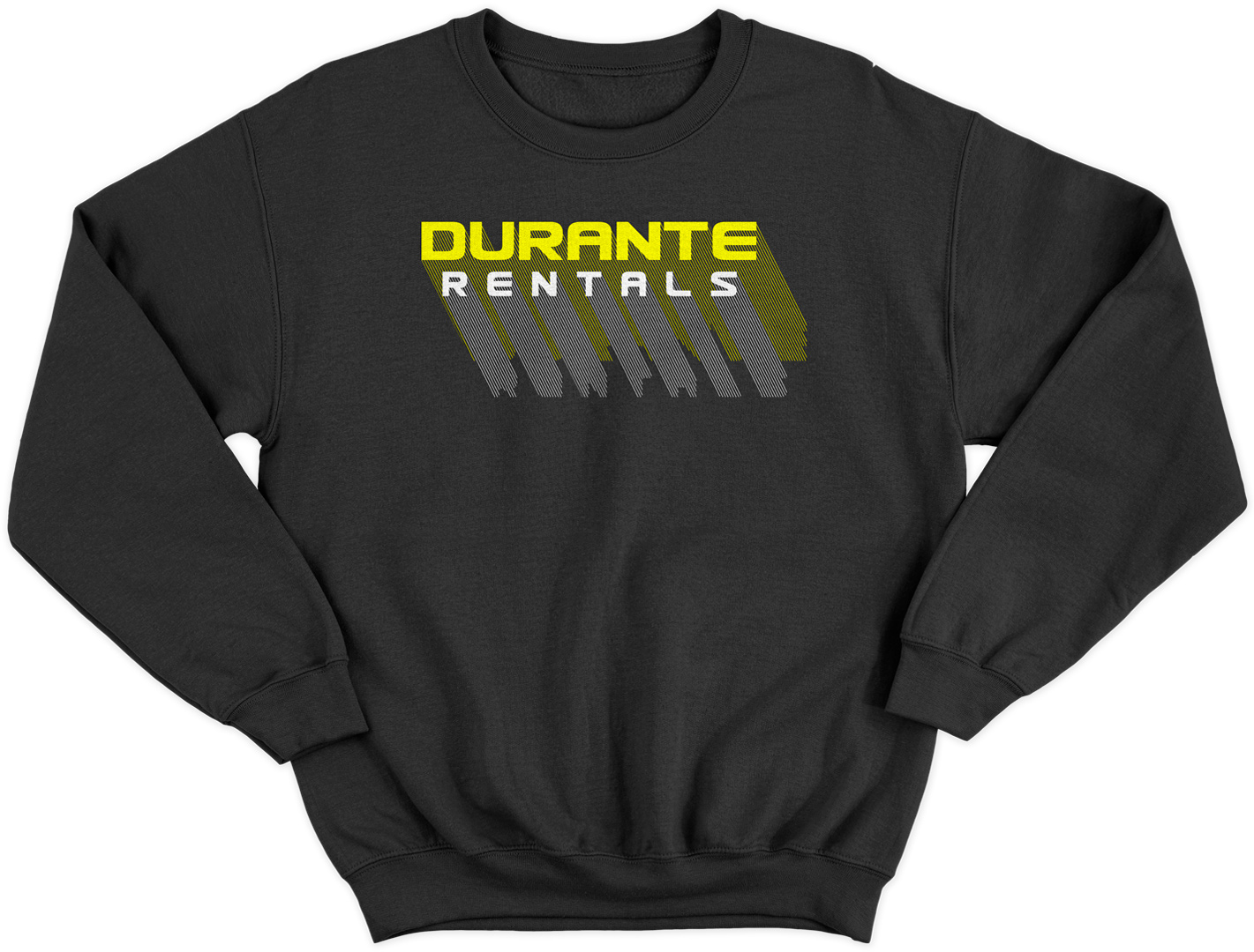 Retro logo crew neck sweatshirt design