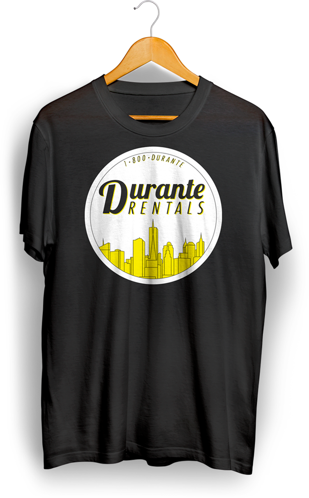 Vintage Shirt Design with New York Skyline Badge