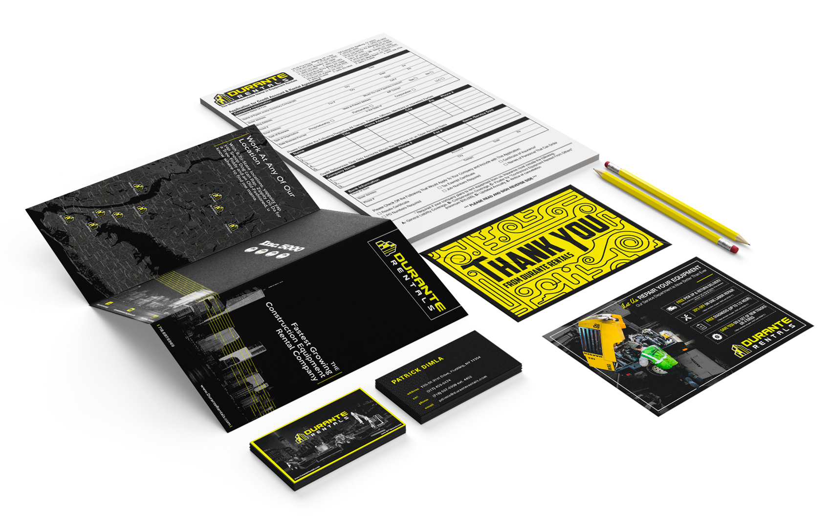Stationary mock-up brand design for Construction Company