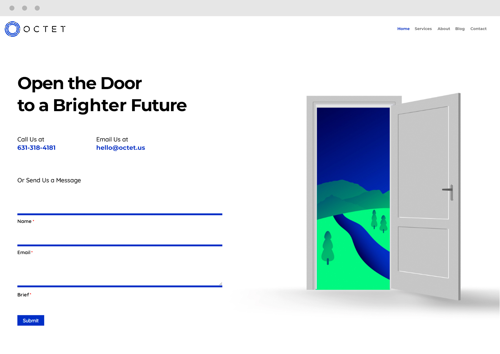 Contact Us Page Web Design Door Illustration Ninja Forms