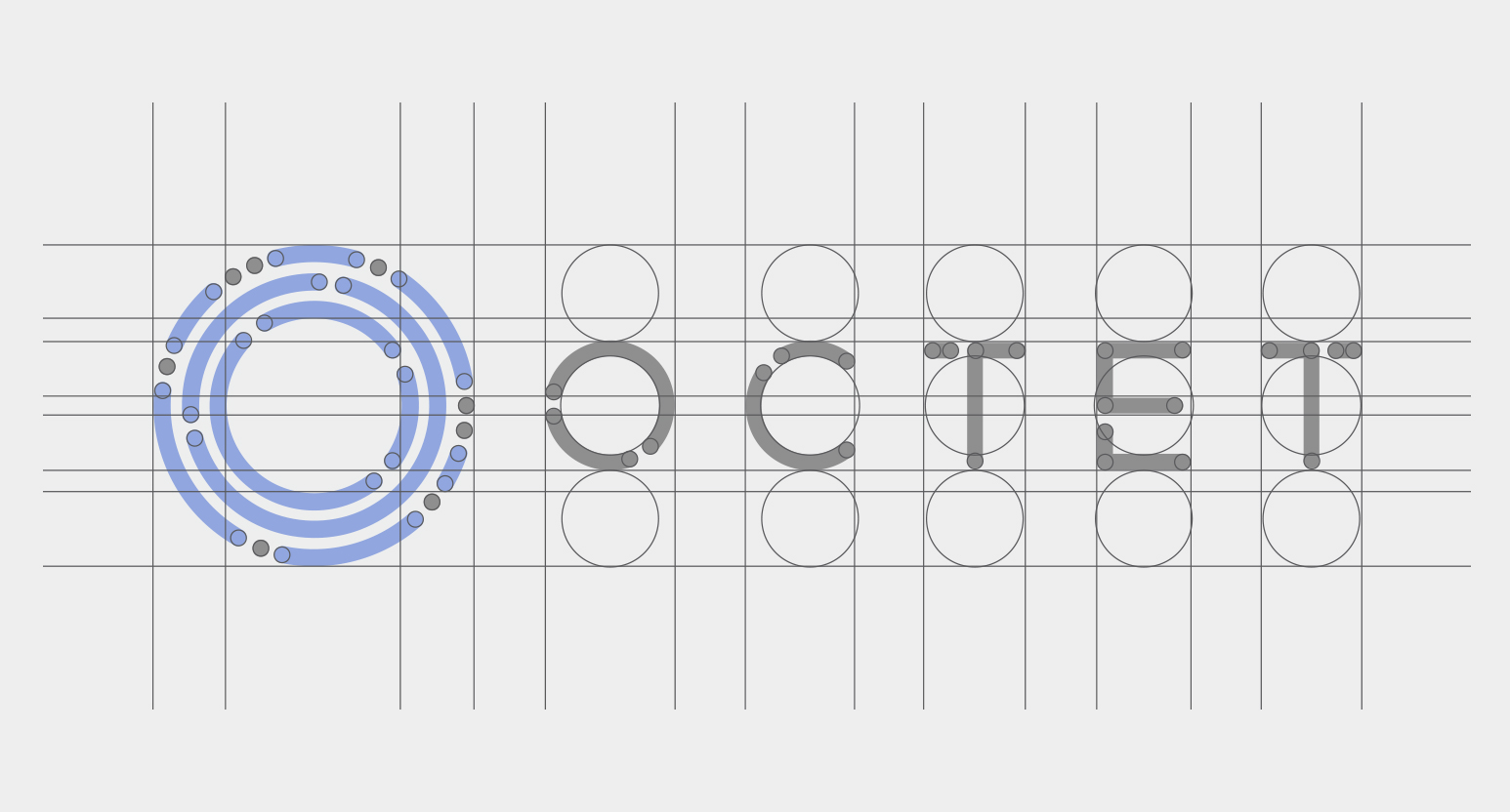 Octet Logo Grid with Golden Ration anatomy
