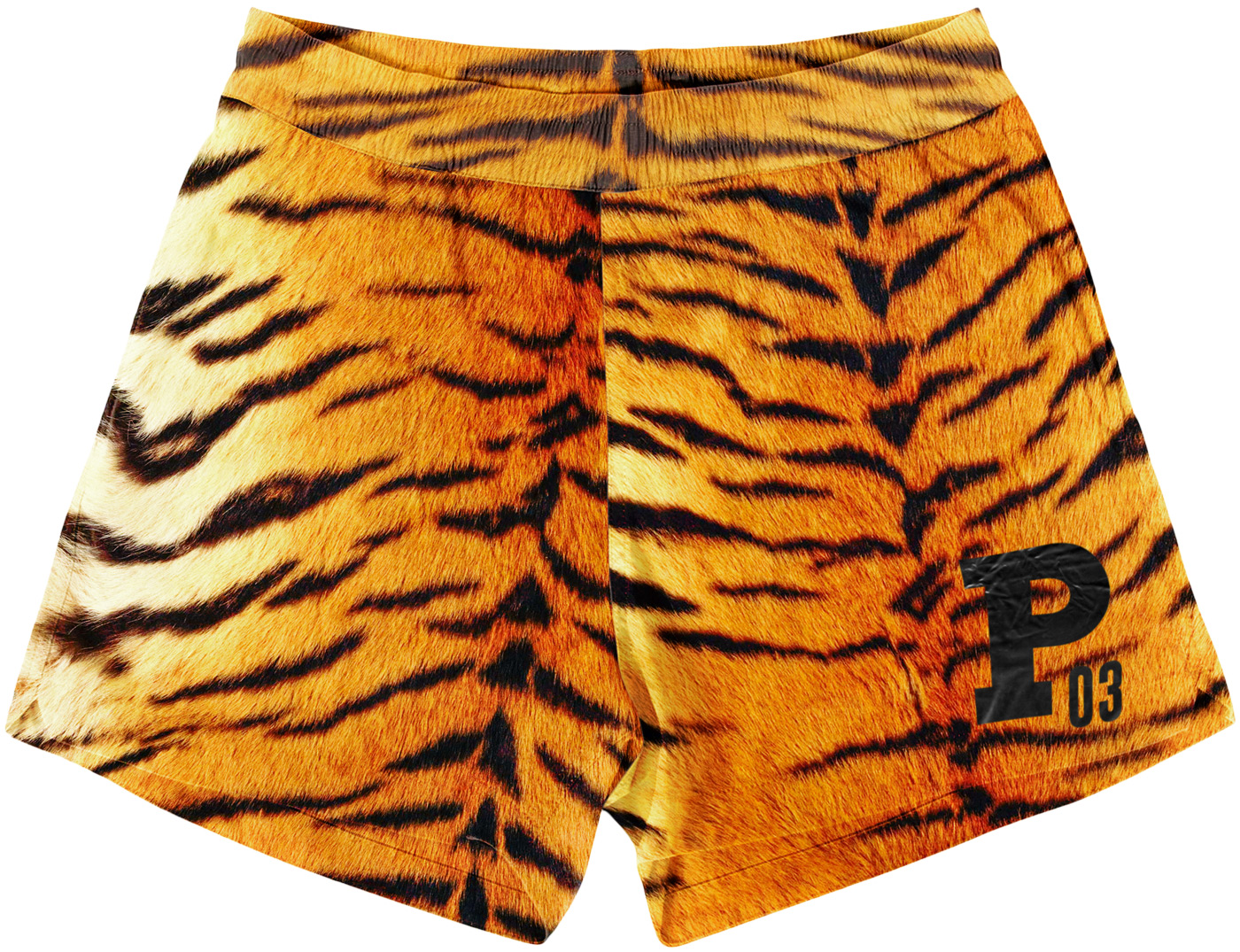 Vintage Tiger Pattern Mens Shorts for Running