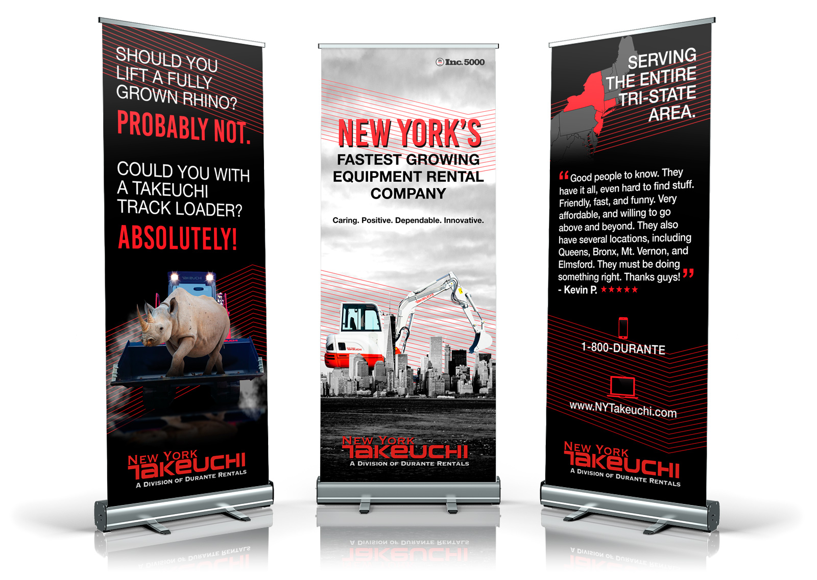 Takeuchi 3 Roll up banner design