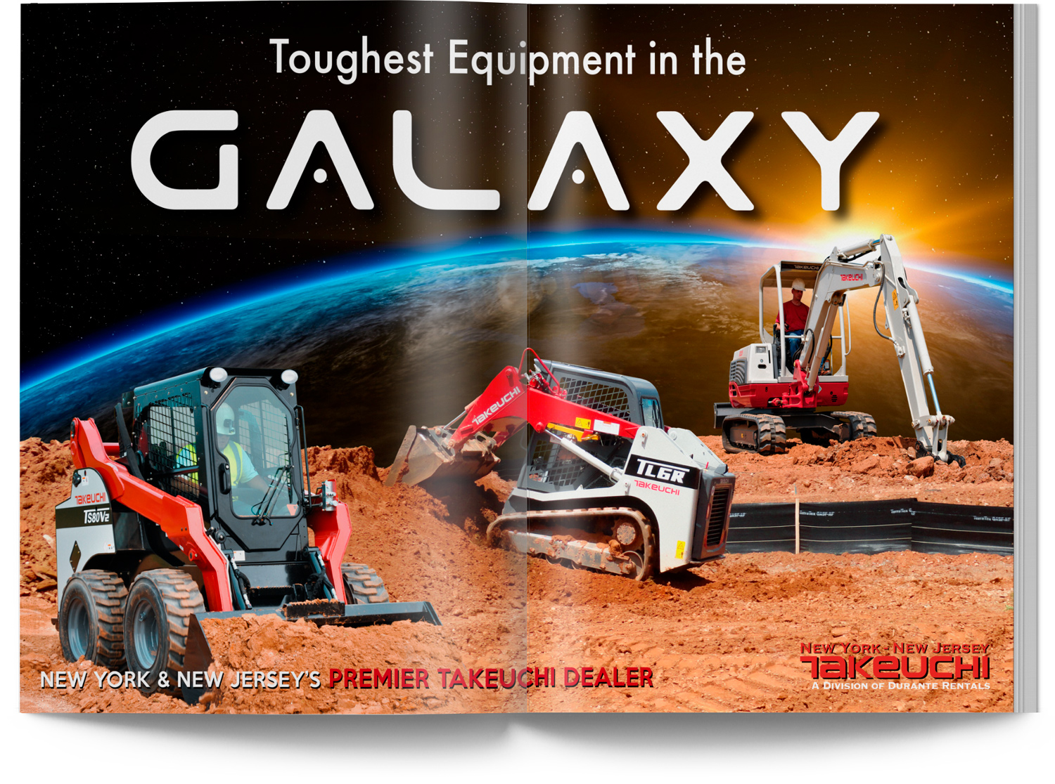 Takeuchi Equipment Toughest Equipment in the Galaxy in space